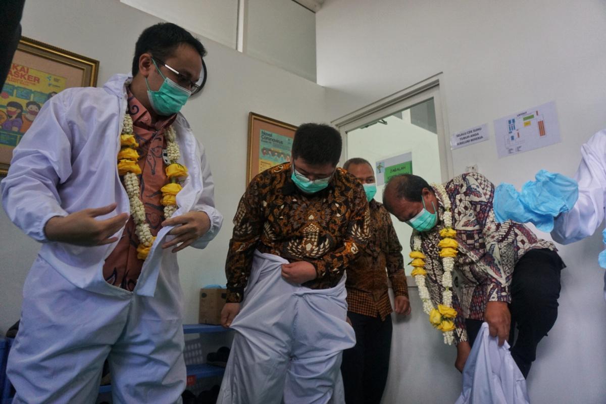 Dukung Peluang Ekspor di Tengah Pandemi Covid-19, Wamendag Hadiri Peluncuran Produk Masker 4-Ply Leuwitex
