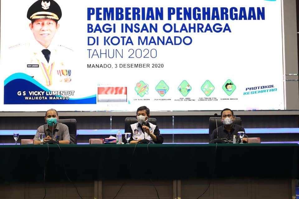 Pemkot Manado Berikan Penghargaan Bagi Insan Olahraga Berdedikasi dan Berprestasi