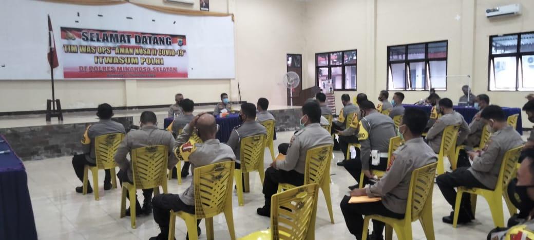 Cek Penanganan Covid-19, Tim Wasops Aman Nusa II Mabes Polri kunjungi Polres Minsel
