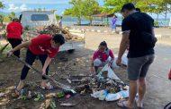 Gelar Kerja Bakti, BMI Minsel Bersihkan Sampah di Boulevard Amurang.