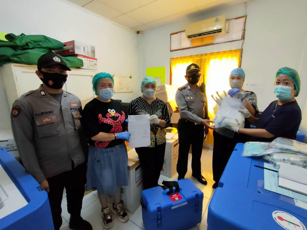 Pendistribusian Vaksin Covid-19 Sinovac Dikawal Polres Minsel ke Rumah Sakit, Poliklinik dan Puskesmas