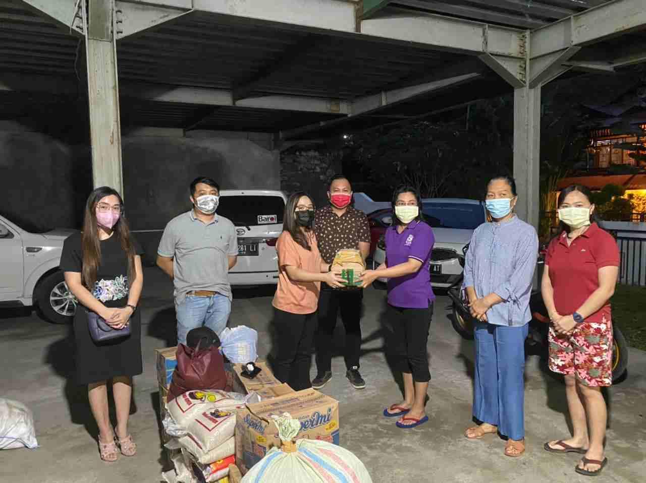 Peduli Bencana Manado, Pemuda GMIM Salurkan Bantuan