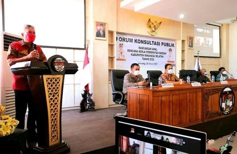 Pemkab Minsel Gelar Forum Konsultasi Publik RA-RKPD 2022