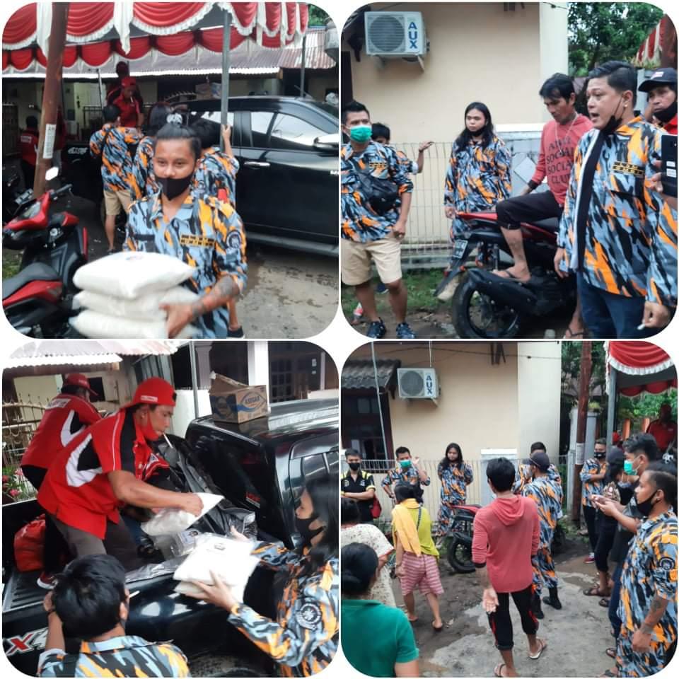 Kerahkan Pasukan, GMBI Wilter Sulut Salurkan Bantuan Bagi Korban Bencana Alam di Kota Manado