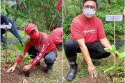 Memperingati HUT Ketum Megawati Soekarnoputri, JG-KWL Tanam Seribu Pohon di Desa Lilang