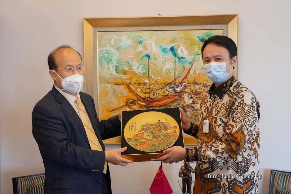 Wamendag Jerry Sambuaga Terima Kunjungan Dubes RRT Untuk Indonesia