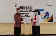 Kantor Pajak Amurang Laksanakan Edukasi dan Sosialisasi SPT e-Filing di Polres Minsel