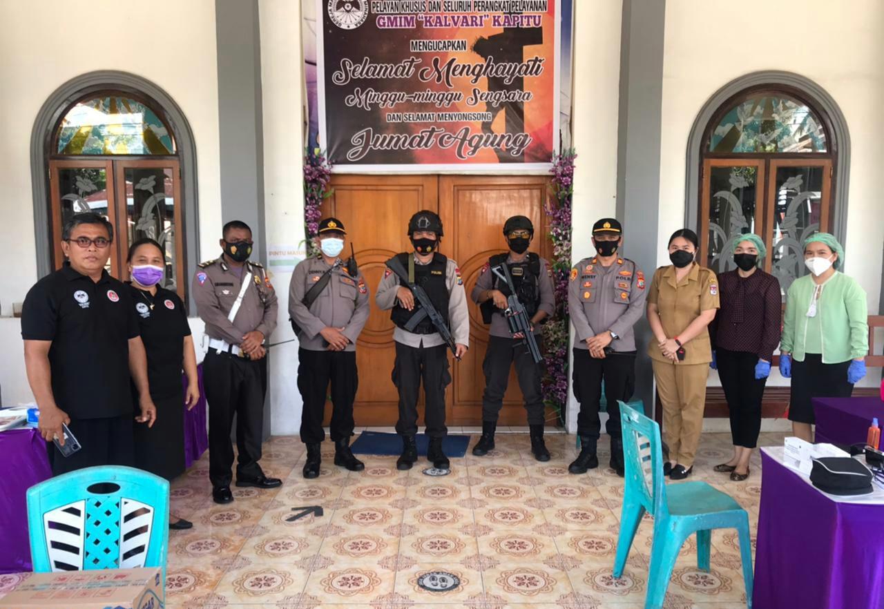 114 Personel Polres Minsel Sukses Amankan SMSI GMIM di 8 Lokasi