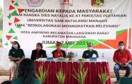 Bupati Minahasa, Royke Roring Resmikan Desa Ampreng Jadi Binaan Faperta Unsrat