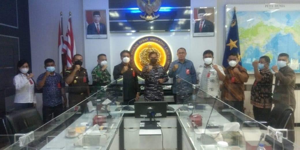 Sambangi Mabes TNI AL, Bupati Gaghana Sampaikan Kesiapan Pembangunan Guskamla di Kampung Pananaru