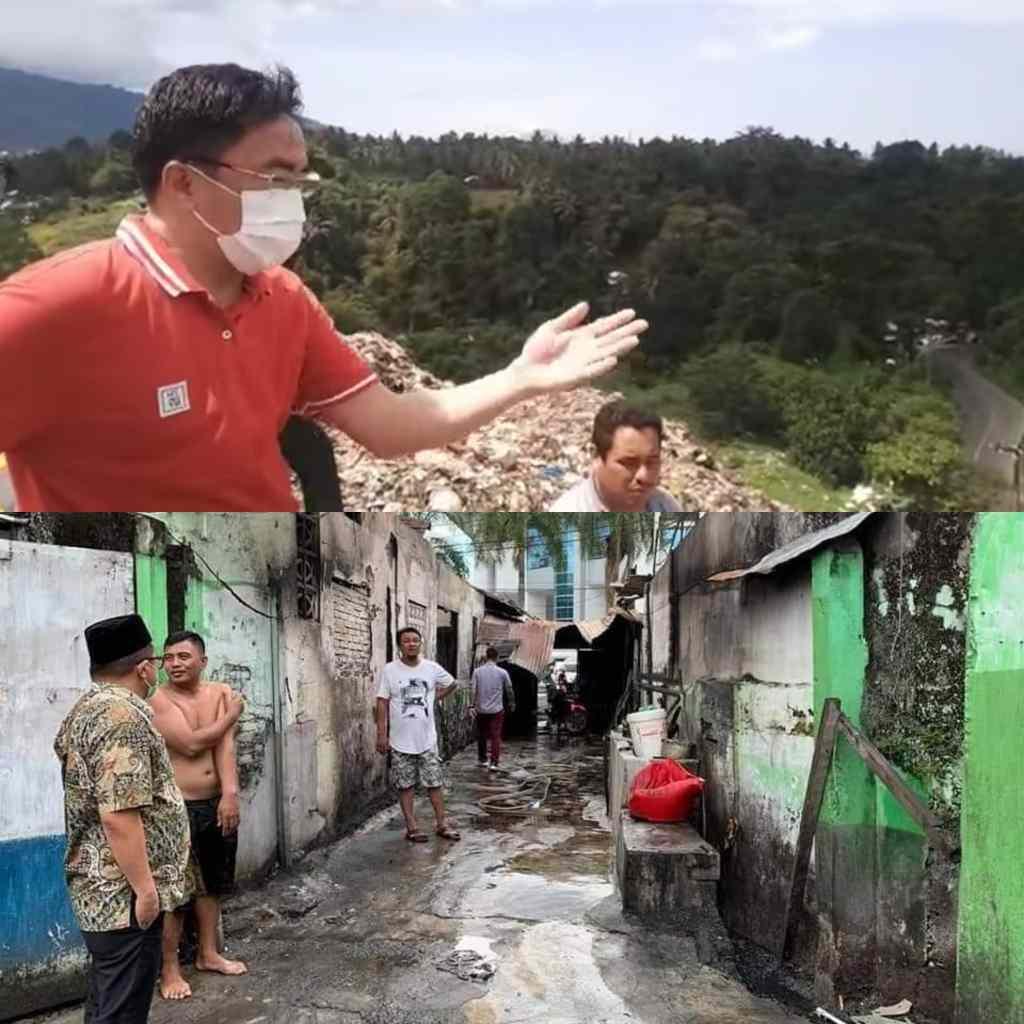 Mengisi Hari Libur, Wali Kota Panjat Bukit Sampah - Wakil Wali Kota Kunjungi Lokasi Kebakaran
