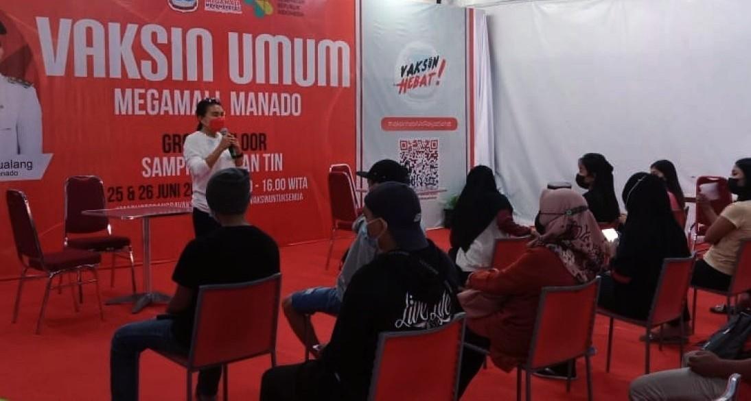 Sukseskan Program Pemerintah, Kecamatan Wenang Gelar Kegiatan Vaksinasi