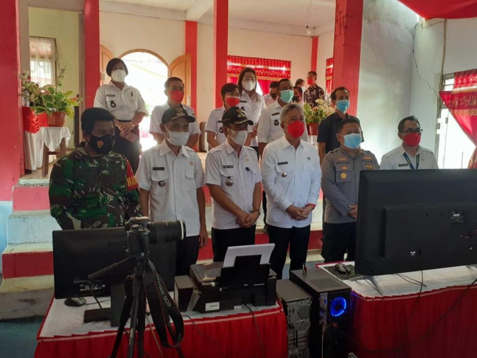 Bupati Minsel FDW Launching Desa Digital Motoling Dua
