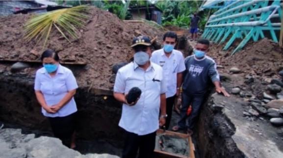 Bupati Sangihe Letakan Batu Dasar Pembangunan Lumbung Pangan yang Berbandrol 3.325 Miliyar