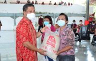 Bupati Minsel FDW Launching Penyaluran Bantuan Beras PPKM