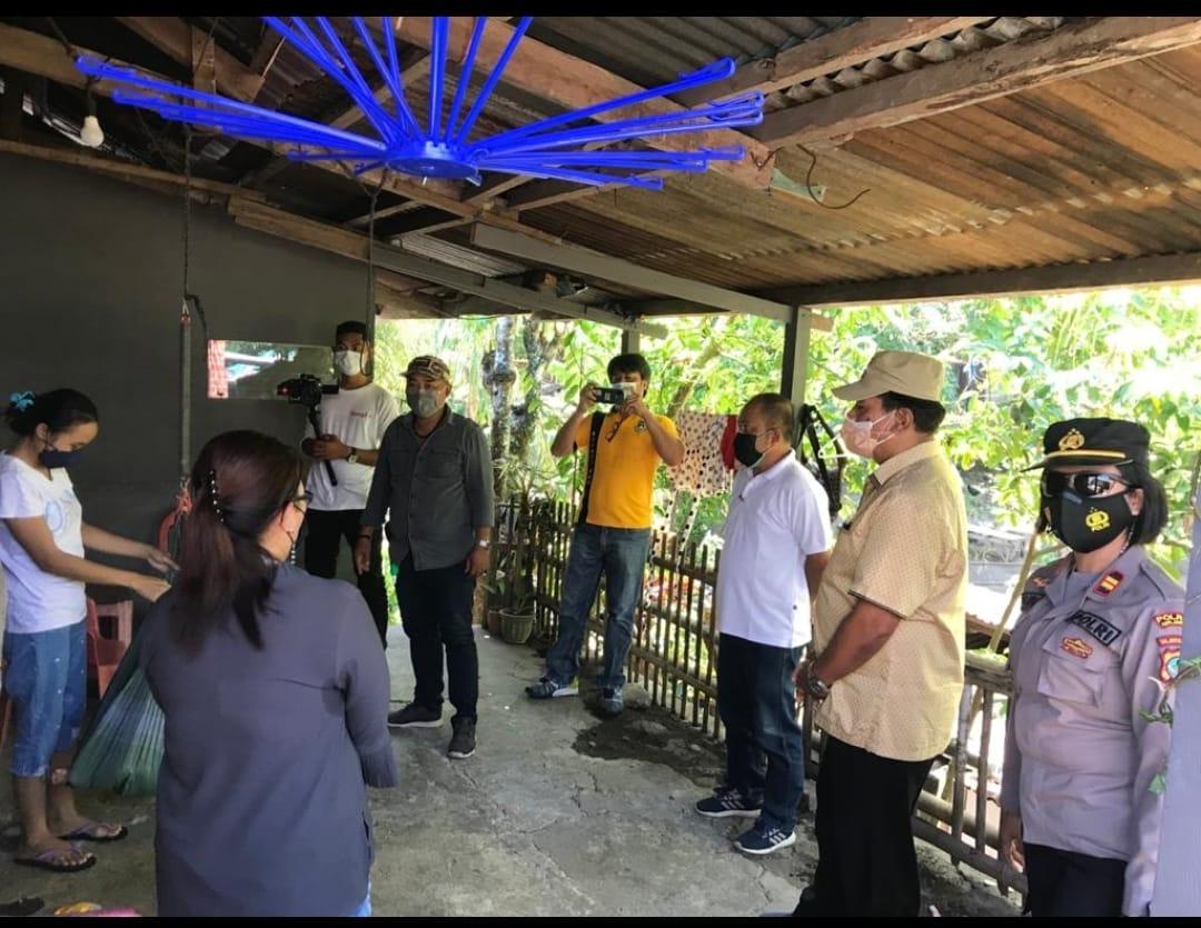 Makin Tunjukkan Kepedulian, Gaghana Kembali Salurkan Bantuan Bapok untuk Warga Isoman di Tahuna