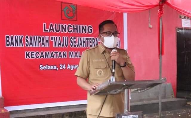 Wawali Richard Sualang Resmikan Bank Sampah MATRA Kecamatan Malalayang