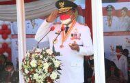 Gubernur Olly Jadi Irup Upacara Bendera Peringatan HUT Kemerdekaan RI Ke-76