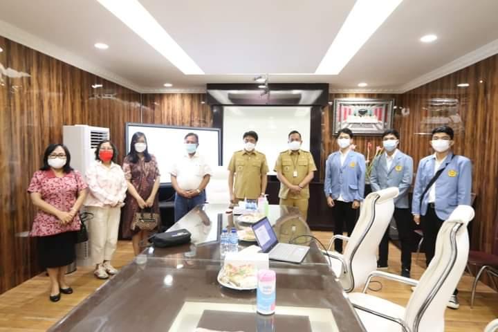 Terkait PKM, Mahasiswa Unsrat Temui Wali Kota dan Wakil Wali Kota Manado