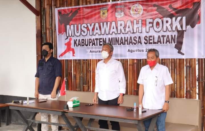 Bupati Minsel FDW Hadiri Musyawarah Forki