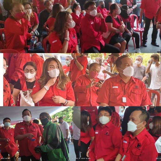 Gelar Baksos, DPC PDI-P Manado Salurkan Paket Sembako untuk Sopir dan Tukang Ojek