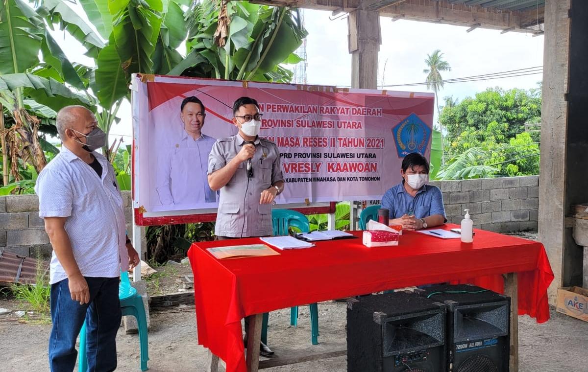 Herol Kaawoan Serap Aspirasi Rakyat Saat Reses di Dapil Minahasa-Tomohon