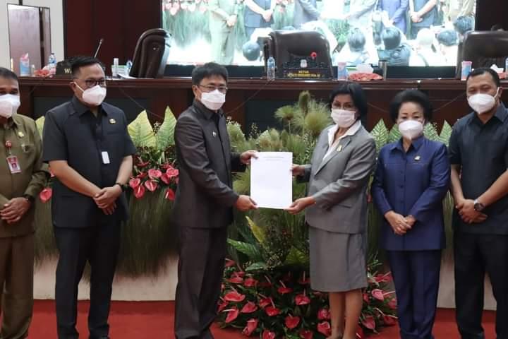 Gelar Paripurna, DPRD dan Pemkot Manado Sepakati KUA PPAS APBD-P 2021