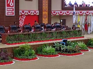 Gubernur OD Hadiri Rapat Paripurna DPRD Sulut, Tandatangani Nota Kesepakatan KUA-PPAS APBD Perubahan