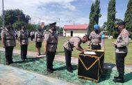 Sitindaon Pimpin Upacara Sertijab Tiga Kapolsek dan Pelantikan Kasikum Polres Minsel