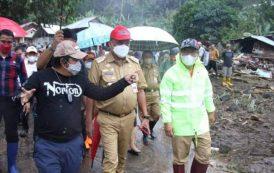 Gubernur Olly Tinjau dan Salurkan Bantuan Bagi Korban Banjir Bandang di Mitra