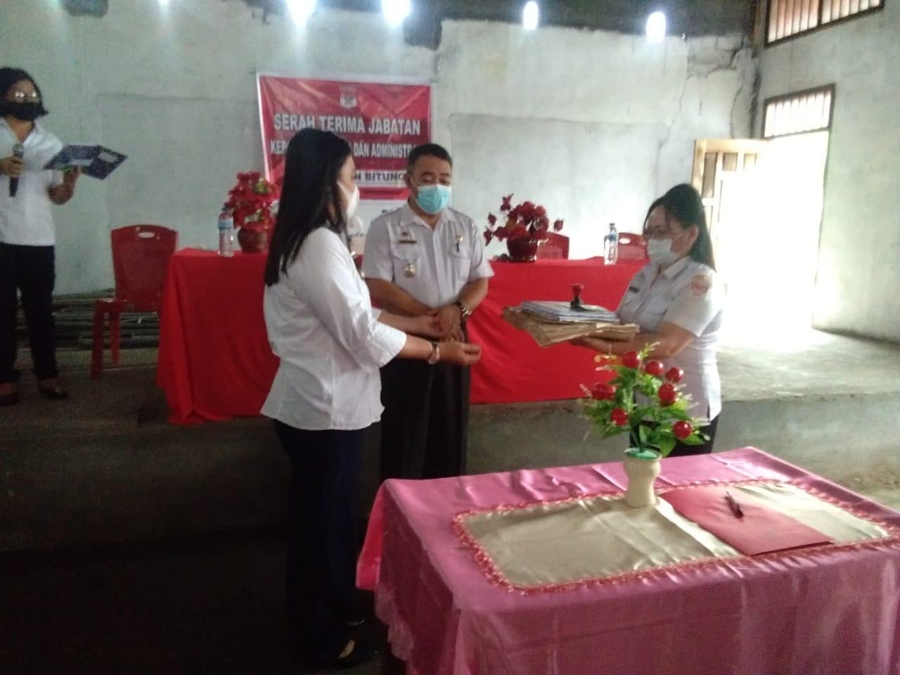 Sertijab Kepala Kelurahan dan Administrasi di Bitung Kecamatan Amurang