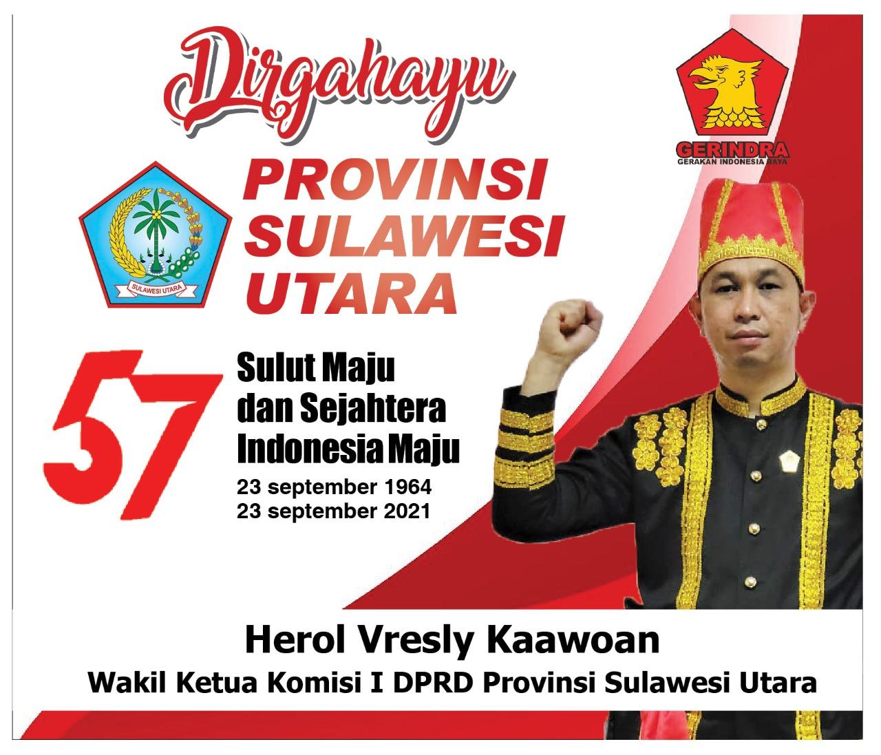 HUT ke-57 Provinsi Sulut, Herol Kaawoan Ajak Masyarakat Optimis Berjuang Bersama Pemerintah